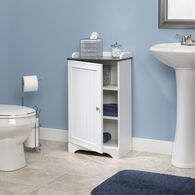 MB Home Highway Soft White Floor Cabinet
