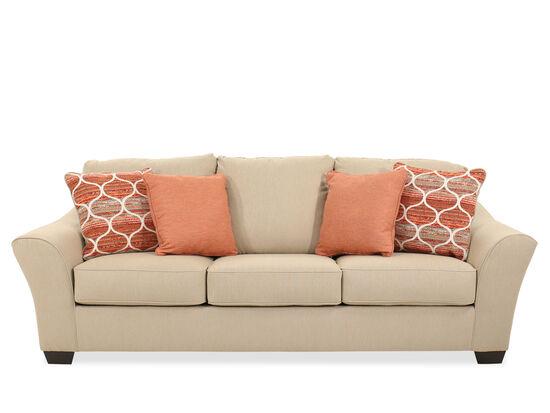 "Contemporary 100"" Sofa in Cream"