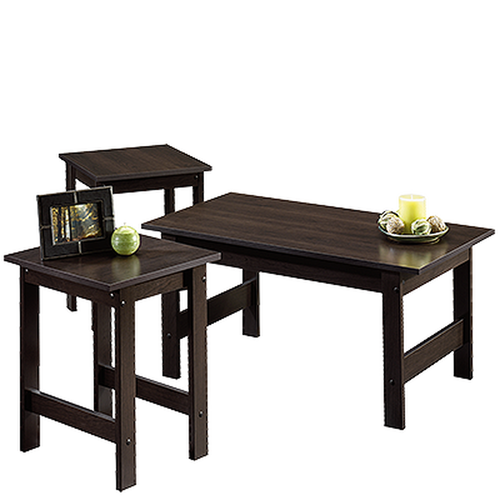 Three Piece Casual Table Set In Cinnamon Cherry Mathis