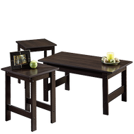 MB Home Genesis Cinnamon Cherry 3-Piece Table Set