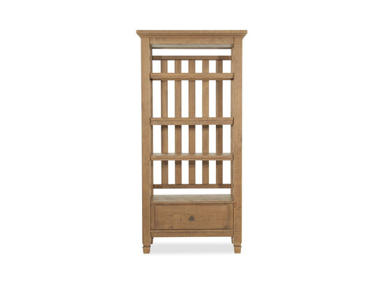 Traditional One-Drawer Pier Cabinetin Brown