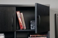 """36.5"""" Casual Two-Door Lateral File Hutch in Bourbon Oak"""
