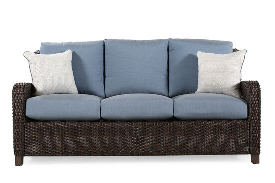 Water-Resistant Contemporary Sofa in Slate Blue