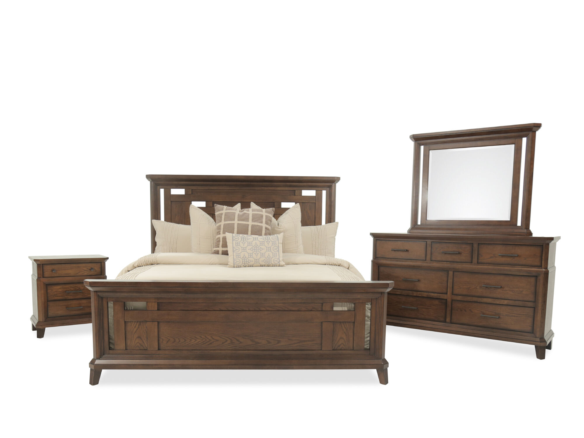 Four Piece Mission Bedroom Set In Brown Four Piece Mission Bedroom Set In  Brown