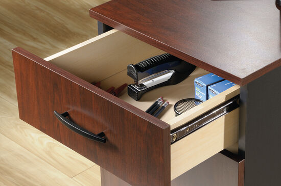 Three-Drawer Contemporary Pedestal File in Classic Cherry