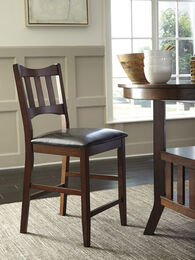 "Casual 41"" Armless Bar Stool in Burnished Brown"