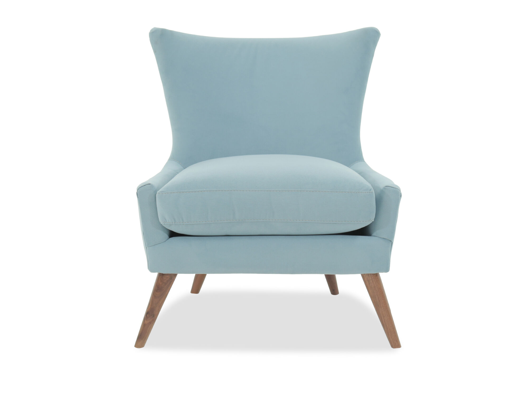 Contemporary 38u0026quot; Armless Chair In Blue