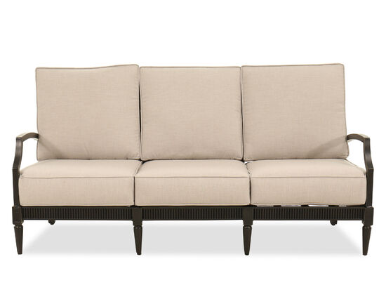Weather-Resistant Aluminum Sofa in Beige