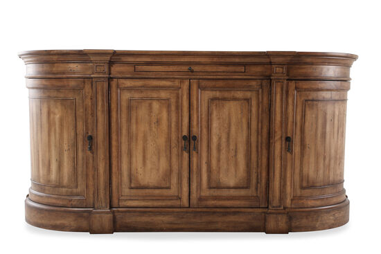 "Four Door 80"" Sideboard in Dark Brown"