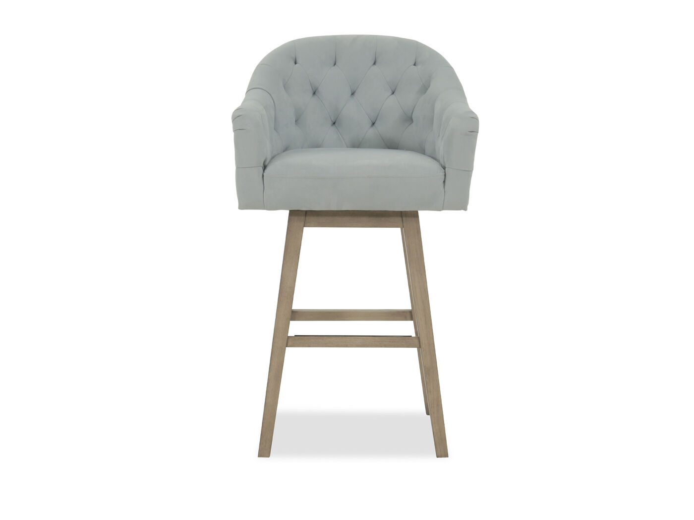Nailhead Accented 42quot Tufted Bar Stool in Powder Blue  : BLVD Y1313BS99601 from www.mathisbrothers.com size 1333 x 1000 jpeg 38kB
