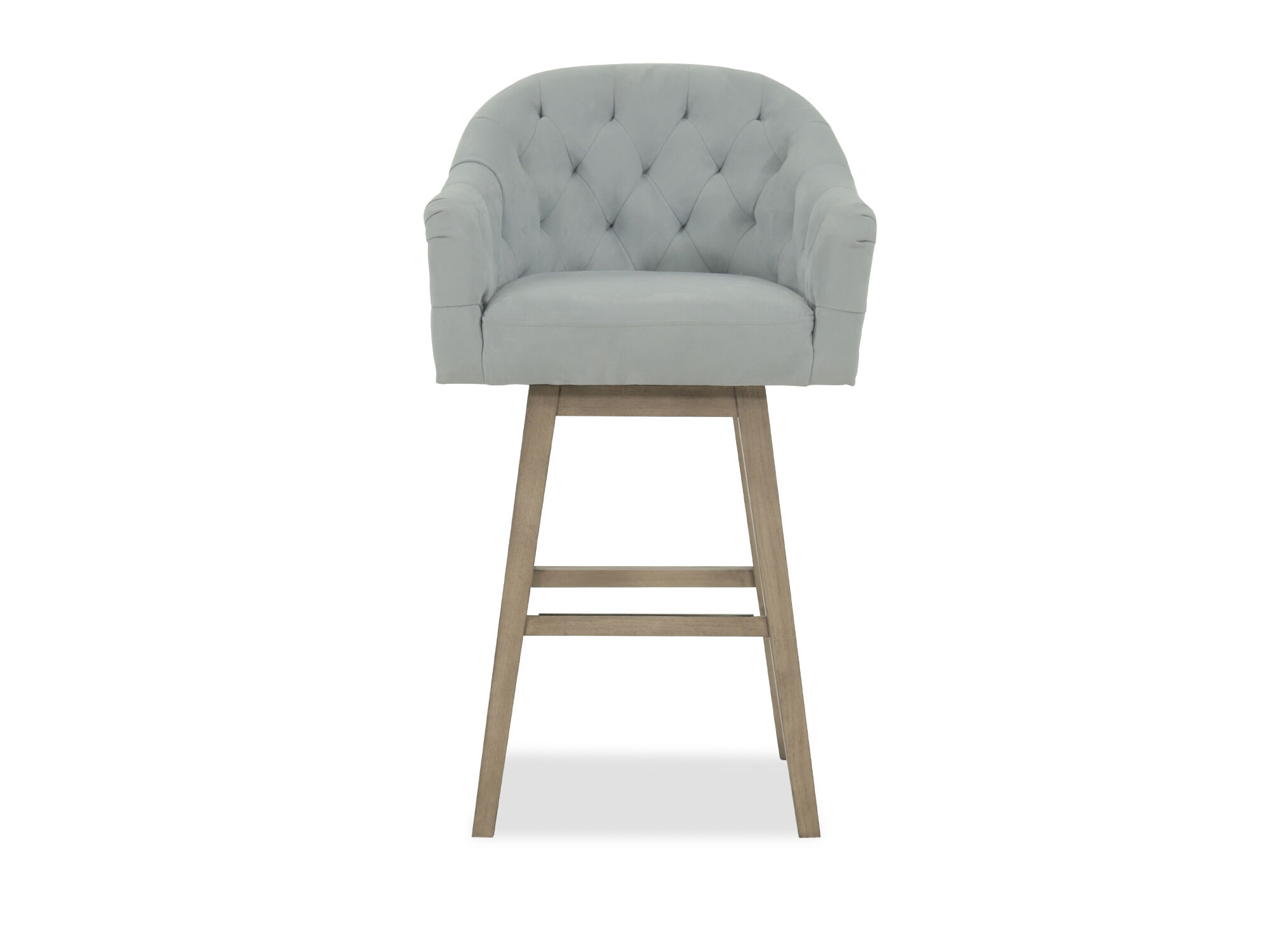 Images Nailhead Accented 42u0026quot; Tufted Bar Stool In Powder Blue ...