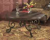 Ashley Rafferty Dark Brown Round Cocktail Table
