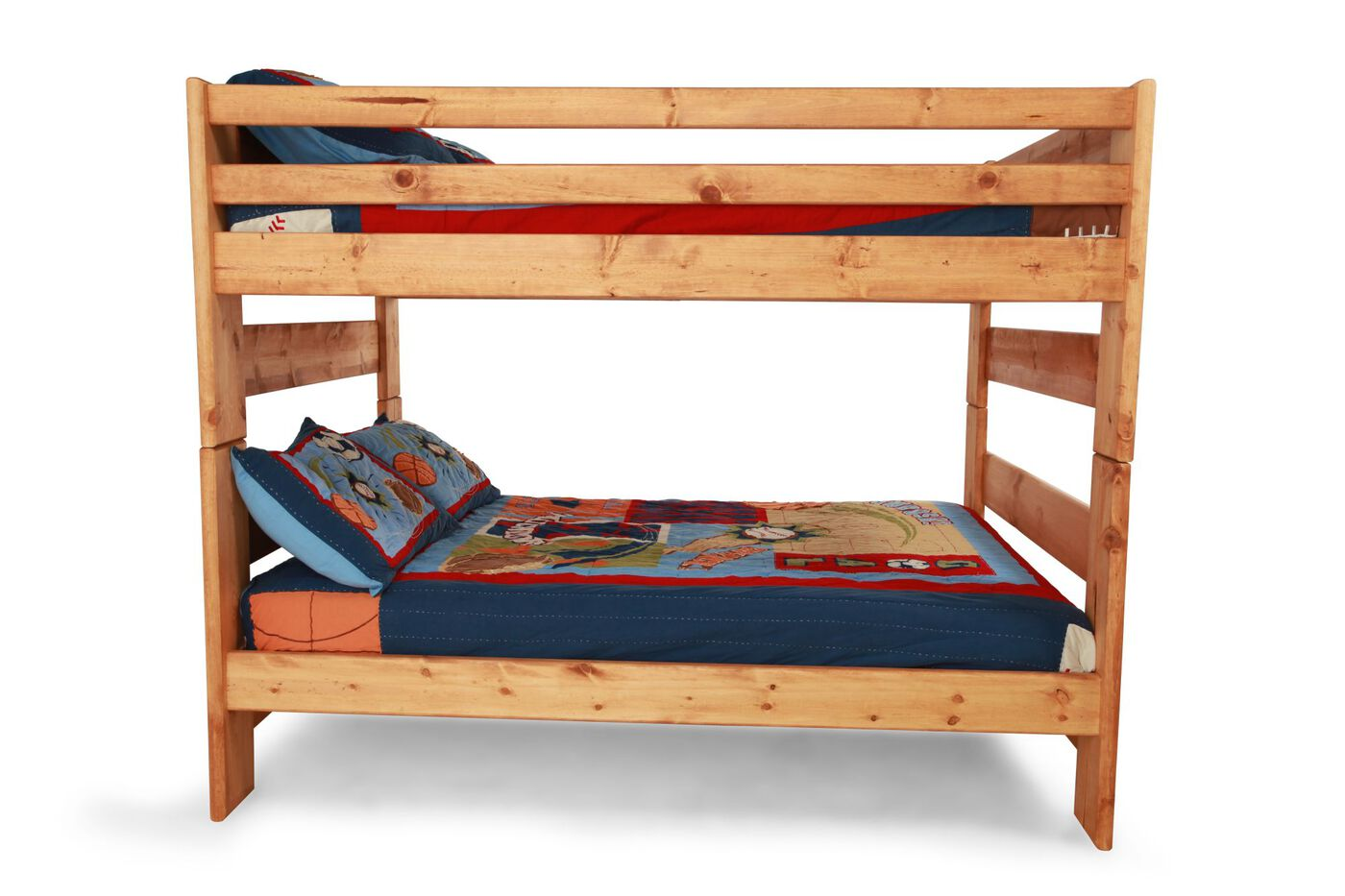 Traditional Youth Full Over Full Bunk Bed In Light
