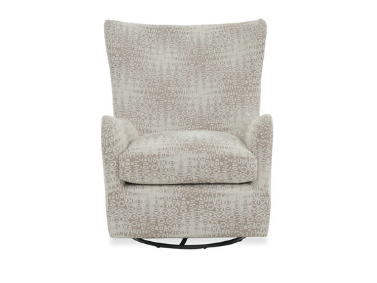 Patterned Casual Glider Accent Chair