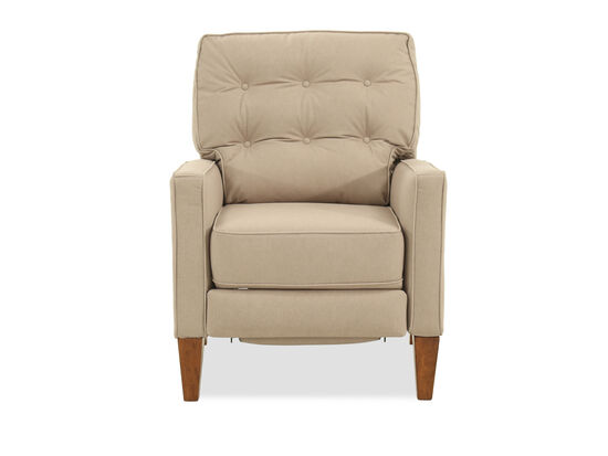 "Button Tufted Casual 30"" Recliner in Beige"