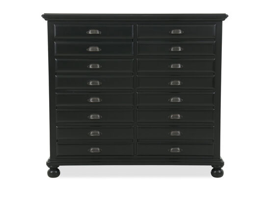 Eight-Drawer Traditional Youth Chest in Black