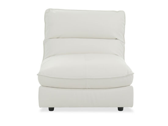 """Contemporary 36"""" Armless Chair in White"""