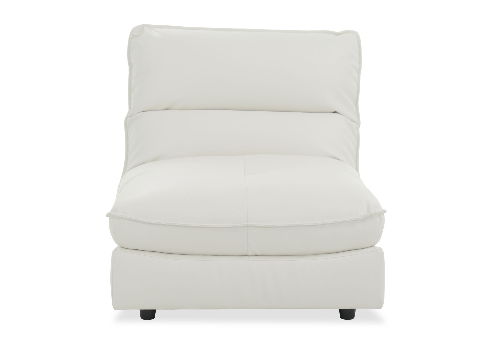 Images Contemporary 36u0026quot; Armless Chair In White ...