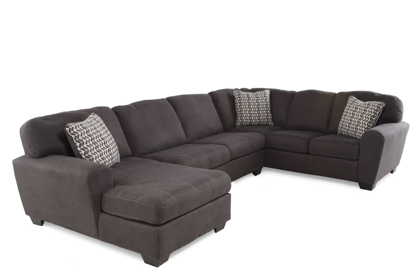 Couch u form leder  Sorenton Slate Sectional | Mathis Brothers