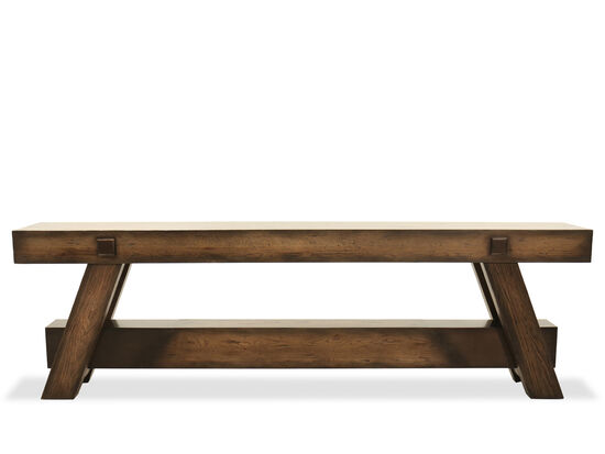 Casual Console Table in Dark Wood