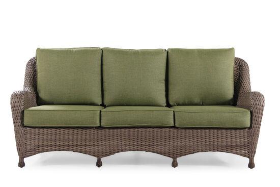 Water-Resistant Aluminum Sofa in Olive