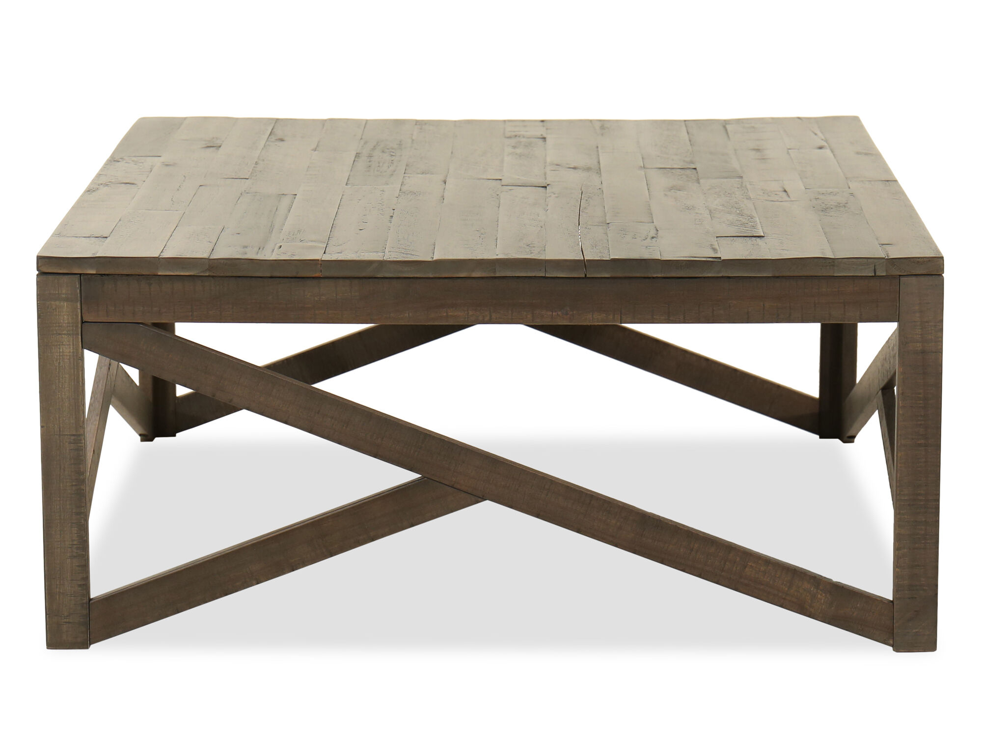 Images Contemporary Rectangular Coffee Table In Rustic Gray ...
