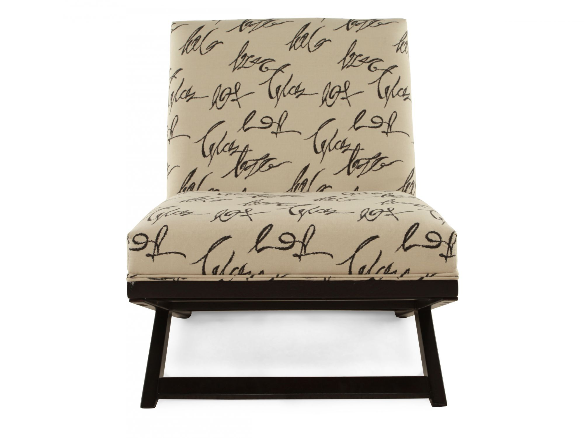Images Script Printed Contemporary 29u0026quot; Accent Chair In Cream Script  Printed Contemporary 29u0026quot; Accent Chair In Cream