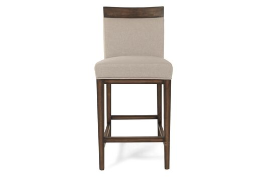Boulevard Linen Khaki Counter Stool