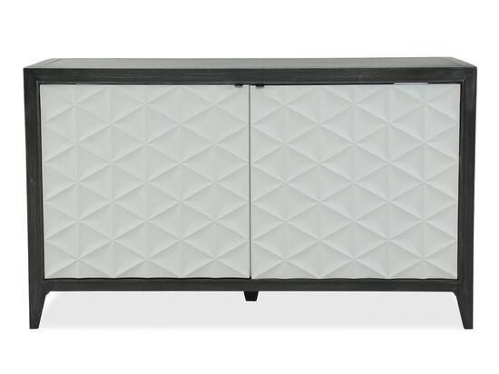 Diamond Textured Contemporary Two-Door Credenzain Medium Brown