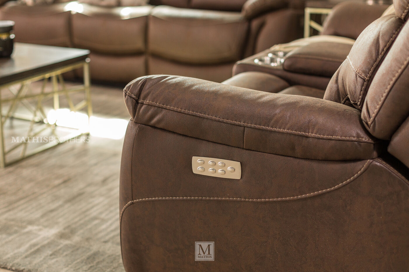 Power Reclining Casual 82 Quot Loveseat In Chocolate Mathis