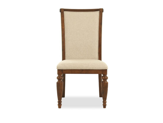 Reeded Forelegs 42'' Side Chair in Beige