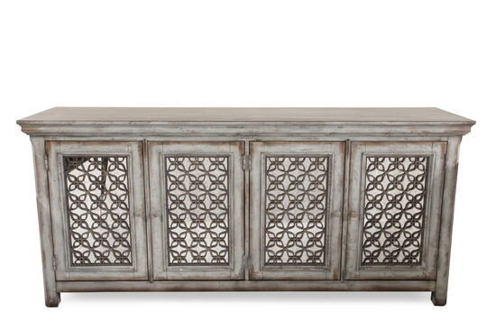 Curlicue Insets Traditional Credenza in Brown