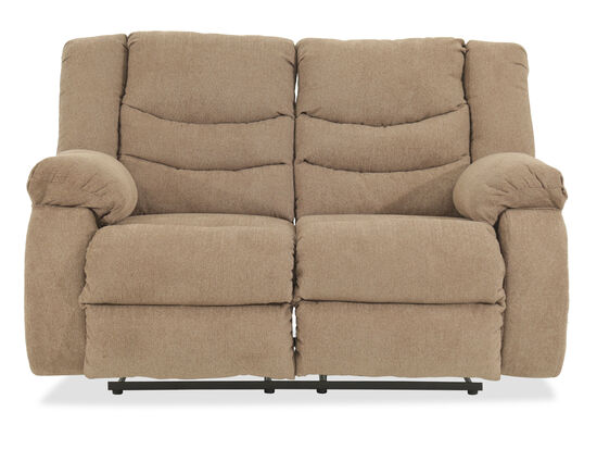 "Reclining Contemporary 63"" Loveseat in Beige"