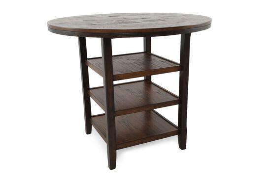 "46"" Tri-Shelf Counter Table in Dark Brown"