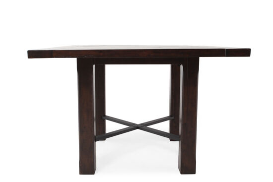 """Transitional 54"""" Square Counter Table in Rustic Pine"""