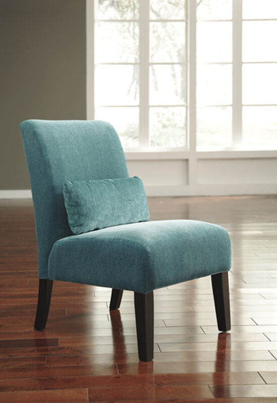 """Textured Traditional 23"""" Accent Chair in Teal"""