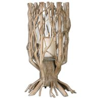 Tree Candle Holder in Natural Wood