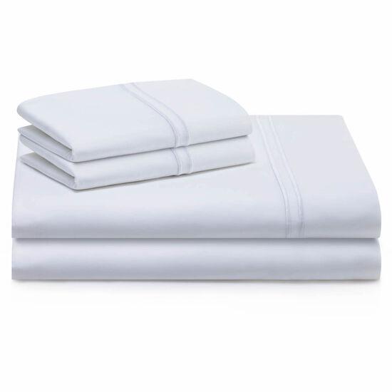 Malouf Supima Cotton Queen Sheet Set in White
