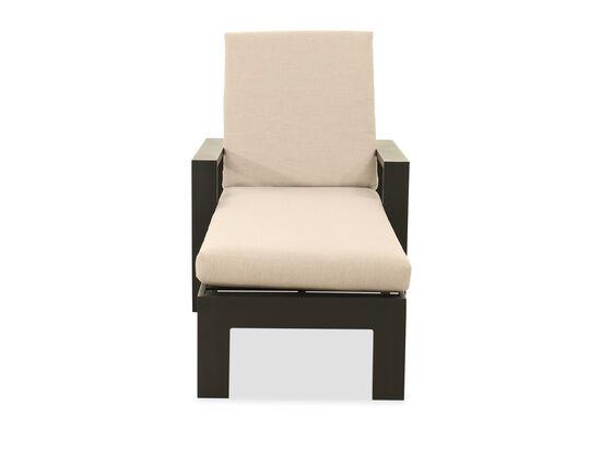 Modern Aluminum Chaise in Black