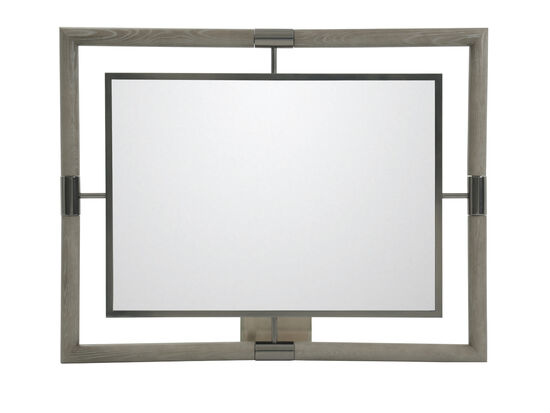 "46"" Modern Rectangular Accent Mirror in Gray"