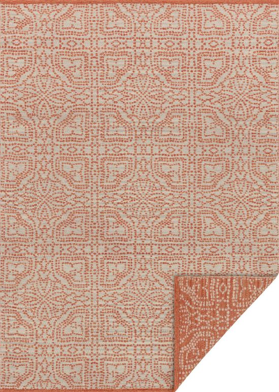 """Transitional 1'-6""""x1'-6"""" Square Rug in Dove/Persimmon"""