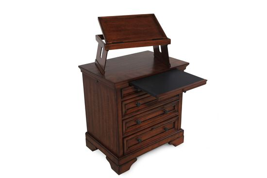"29"" Casual Nightstand in Chestnut Brown"