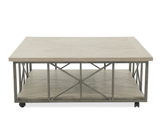 X-Base Casual Cocktail Table in Gray