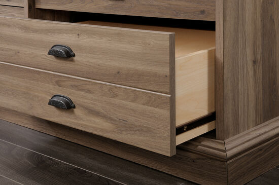 "36"" Contemporary Six-Drawer Dresser in Salt Oak"