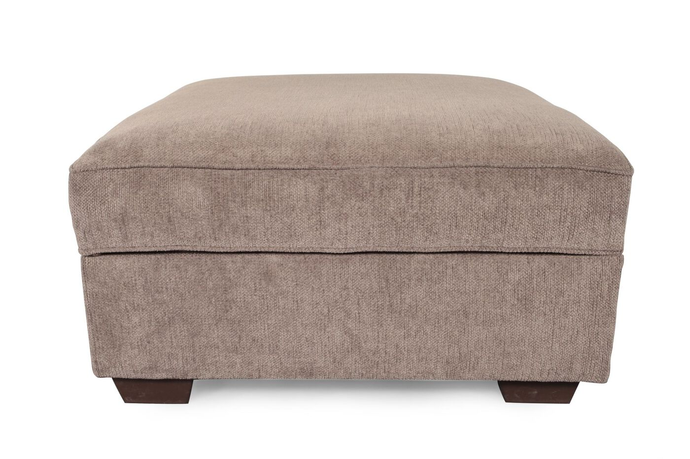 Contemporary 38 Storage Ottoman In Brown Mathis Brothers Furniture