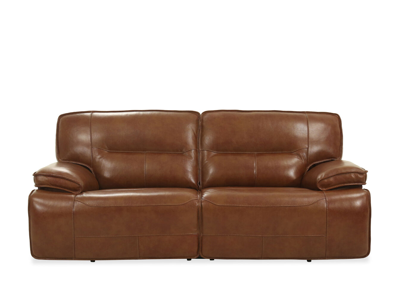 Traditional power reclining 87 sofa in chestnut mathis for Traditional sofa