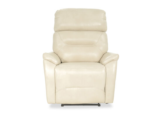 "Traditional 33.5"" Power Recliner in Ivory"