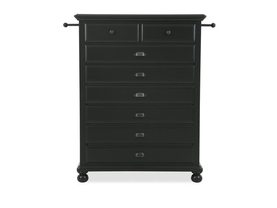 Five-Drawer Traditional Youth Chest in Black