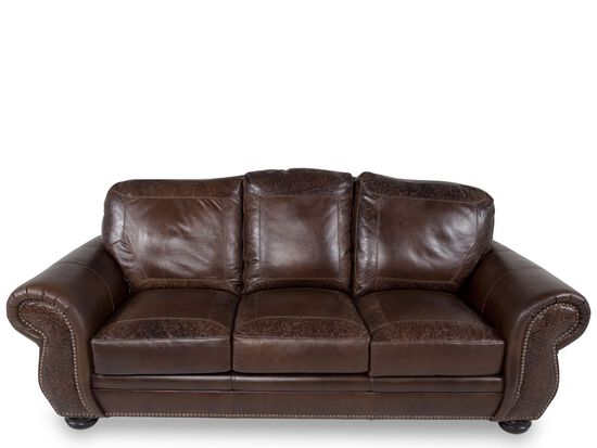 Usa Leather Oak Paisley Sofa Mathis Brothers Furniture