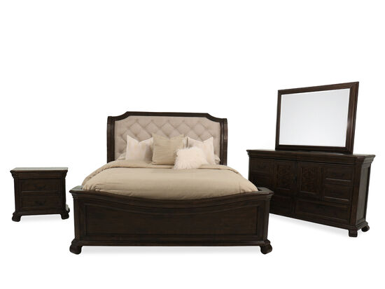 Four-Piece European Classic King Bedroom Suite in Bourbon